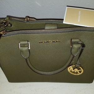 Michael Kors Sage color satchel- New w/o tag